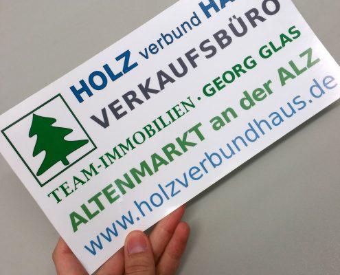 HolzverbundHaus_Aufkleber