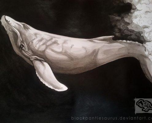 inktober__4___humpback_whale_by_pantiesaurus_dbpkohm-fullview
